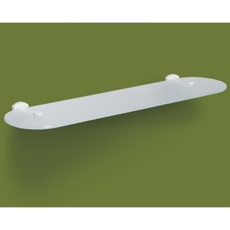 Bathroom Shelf Frosted Glass Bathroom Shelf With Lacquered White Mounting ED19-02 Gedy ED19-02