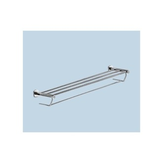 Polished Chrome Towel Shelf With Towel Bar Gedy ED35-13
