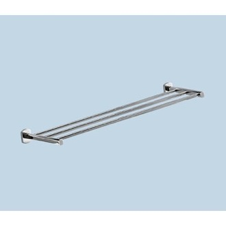 Train Rack Polished Chrome 25 Inch Towel Shelf Gedy ED44-13