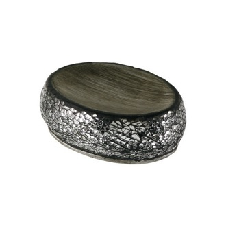 Soap Dish Round Grey-Silver Soap Holder MY11-73 Gedy MY11-73