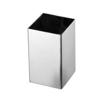 Square Polished Chrome Toothbrush Holder Gedy NE98-13