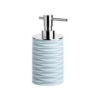 Soap Dispenser Chrome and Ivory, Aquamarine, or Blue Round Soap Dispenser OR81 Gedy OR81