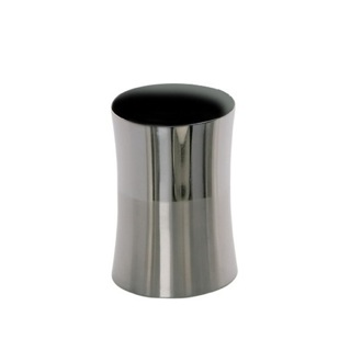 Round Stainless Steel Toothbrush Holder Gedy PR98-21