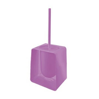 Toilet Brush Square Lilac Toilet Brush Holder Gedy 1033-79