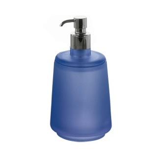 Soap Dispenser Round Modern Blue Soap Dispenser 1281-P1 Gedy 1281-P1