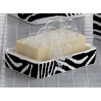 Soap Dish Rectangle White Black Soap Holder Gedy 1311