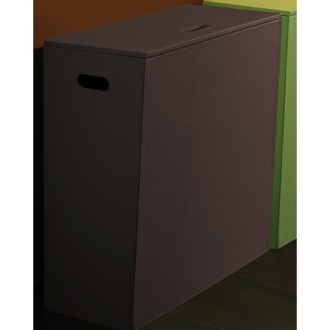 Rectangle Wenge Laundry Basket Gedy 1539-19