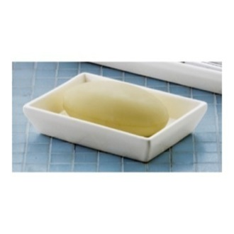 Soap Dish Rectangular Matte White Soap Dish 1611-M2 Gedy 1611-M2