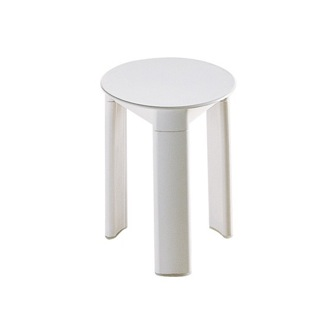 Bathroom Stool White Round Floor Standing Bathroom Stool Gedy 2072-02