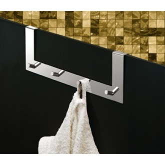 Chrome Over Door Multiple Hook (for shower door)