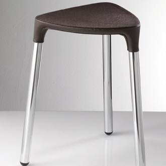 Bathroom Stool Wenge Leather Stool Gedy 2172-E9
