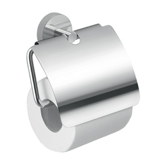 Chrome Toilet Paper Holder With Cover Gedy 2325-13