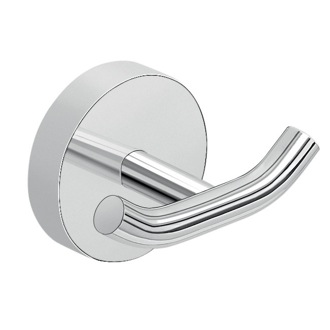 Chrome Double Robe Hook Gedy 2326-13