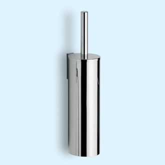 Cylindric Chrome Wall Mounted Toilet Brush Holder Gedy 2433-03-13