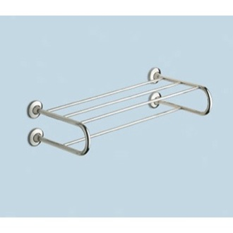 Polished Chrome Towel Shelf With Towel Bar Gedy 2435-13