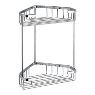 Wire Corner Double Shower Basket Gedy 2481