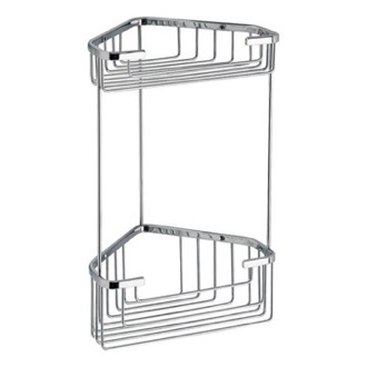 Wire Corner Double Shower Basket Gedy 2482