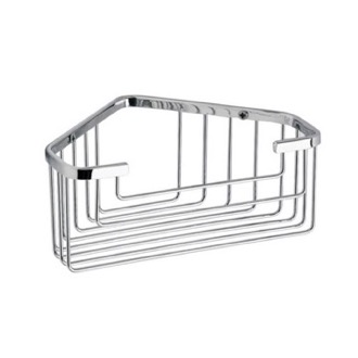 Chrome Wire Corner Shower Basket Gedy 2483