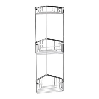 Wire Corner Triple Shower Basket Gedy 2484