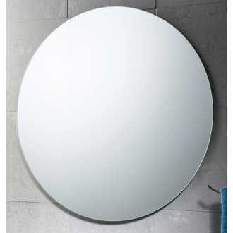 Vanity Mirror 26 x 26 Inch Round Polished Edge Vanity Mirror Gedy 2520-13
