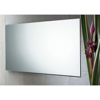 39 x 24 Inch Wall Mounted Polished Edge Vanity Mirror Gedy 2551-13
