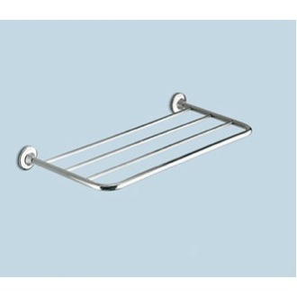 Train Rack Polished Chrome 23 Inch Towel Shelf Gedy 2744-13