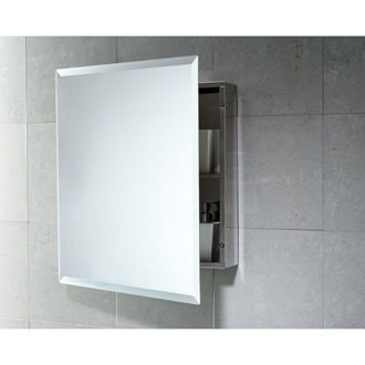 Cabinet of Stainless Steel with 1 Shelf and Mirror Gedy 2806-13