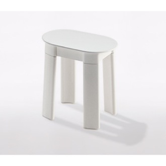 Bathroom Stool White Oval Floor Standing Bathroom Stool Gedy 2872-02