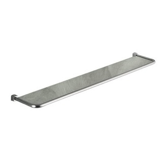 Bathroom Shelf 24 Inch Frosted Glass and Satin Nickel Bath Shelf 3119-60-40 Gedy 3119-60-40