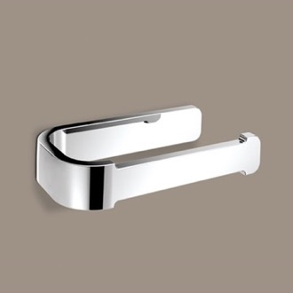 Horizontal Chrome Toilet Paper Holder Gedy 3224-13