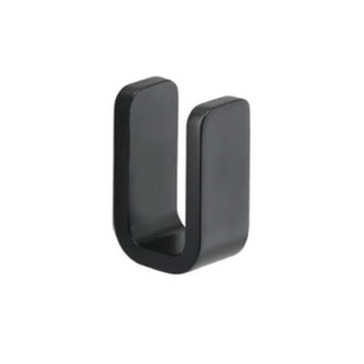Matte Black Single Robe Hook Gedy 3226-14