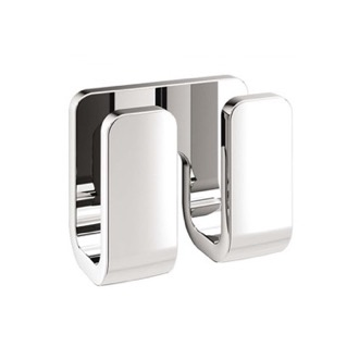 Modern Chrome Double Robe Hook Gedy 3228-13