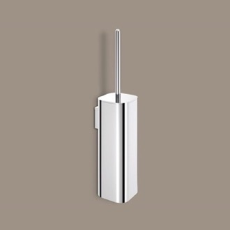 Wall Mounted Polished Chrome Toilet Brush Holder Gedy 3233-03-13