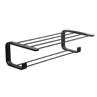 Modern Matte Black Towel Rack Gedy 3235-14