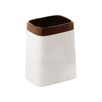 Toothbrush Holder White Free Standing Tumbler with Moka Top 3298-54 Gedy 3298-54