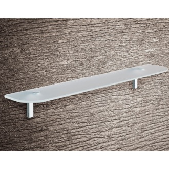 Bathroom Shelf Round Sandblasted Glass Bathroom Shelf Gedy 3519-60-13