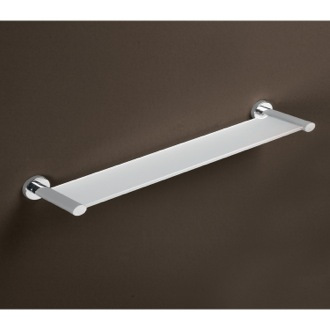 Bathroom Shelf Frosted Glass Bathroom Shelf With Chrome Holders 3719-60-13 Gedy 3719-60-13