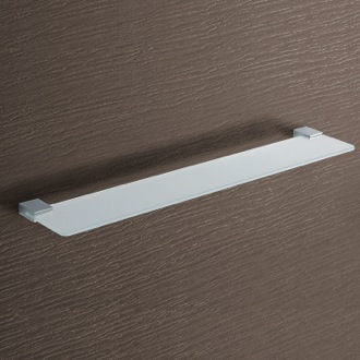 Square Frosted Glass Bathroom Shelf Gedy 3819-60-13