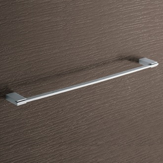 Square 24 Inch Polished Chrome Towel Bar Gedy 3821-60-13