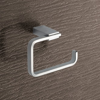 Square Brass Toilet Paper Holder In Polished Chrome Gedy 3824-13