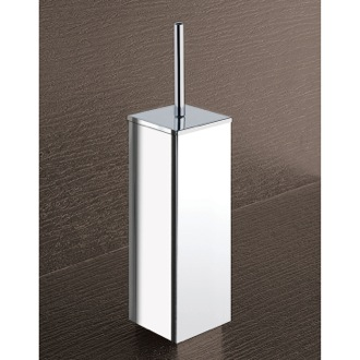 Square Chrome Toilet Brush Holder Gedy 3833-13