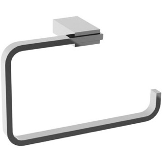 Square Polished Chrome Towel Ring Gedy 3870-13