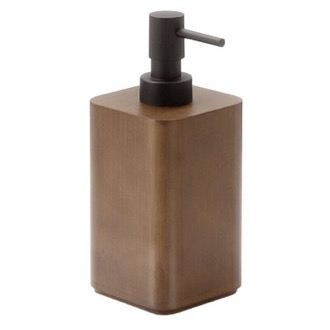 Walnut Free Standing Soap Dispenser Gedy 3980-30