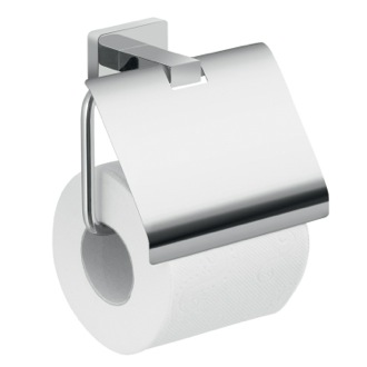 Wall Mounted Chrome Toilet Paper Holder With Cover Gedy 4425-13