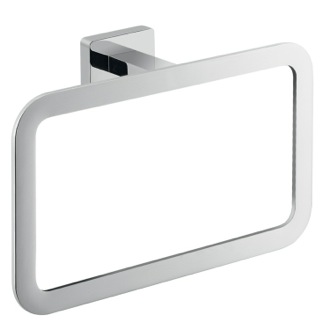 Square Wall Mounted Polished Chrome Towel Ring Gedy 4470-13