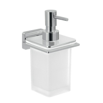Glass Soap Dispenser With Chrome Wall Mounted Holder Gedy 4481-13