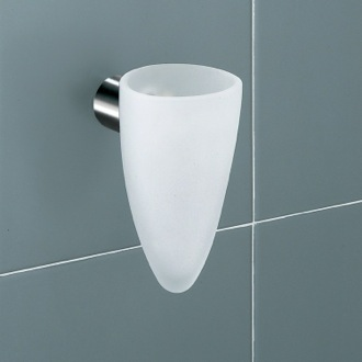 White Frosted Glass Tumbler Holder Gedy 4610-02