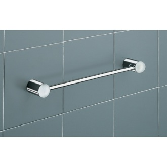 Towel Bar 16 Inch White and ChromeTowel Holder with 4621-40-02 Gedy 4621-40-02