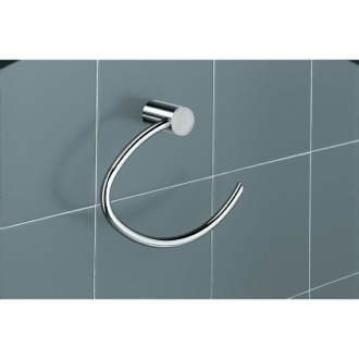 White Wall Mounted Towel Ring Gedy 4670-02