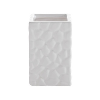 Toothbrush Holder Square Tumbler Made from Pottery in Pearl White Finish 4798-42 Gedy 4798-42